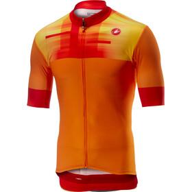 Castelli A Bloc maglietta a maniche corte Uomo arancione